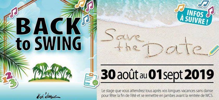 Back to Swing 30/08 au 01/09 2019 West Coast Swing Lyon
